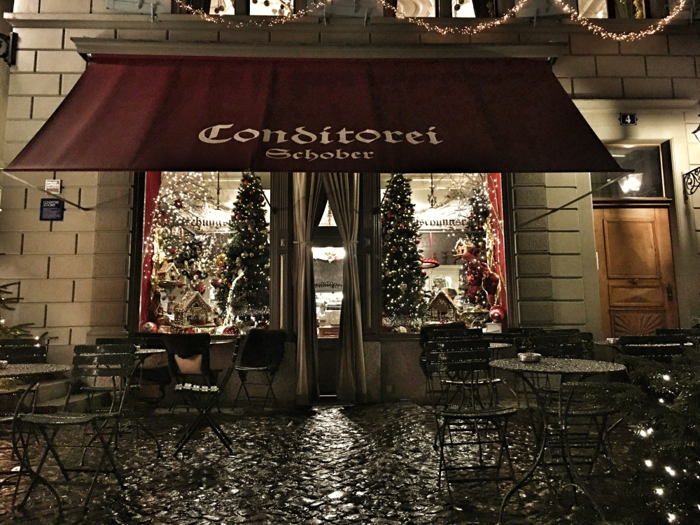 Café Schober, one of the oldest and nicest cafés in Zurich down town.